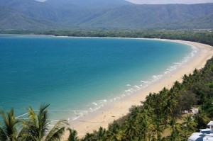 Aussicht auf den four mile beach in Port Douglas