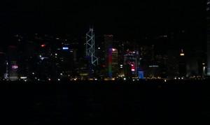 Hongkong - Skyline bei Nacht