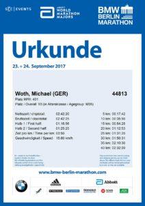 Urkunde Berlin Marathon