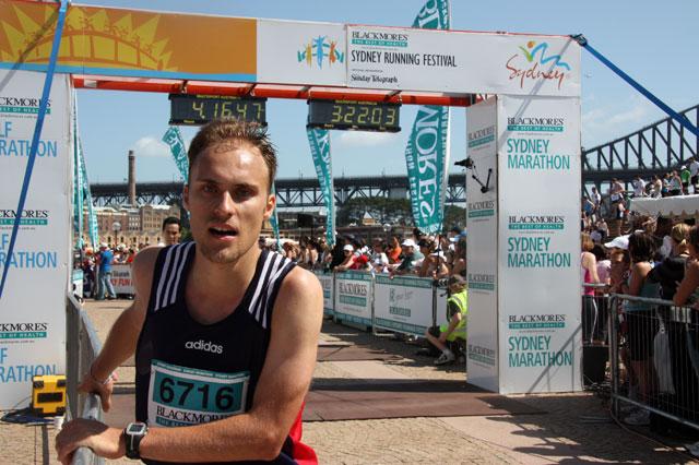 Sydney Marathon - im Ziel