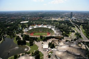 Blick vom Olympiaturm in München